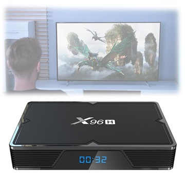 X96H Powerful 6K TV Box met Android 9.0 - 4GB RAM, 64GB ROM