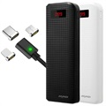 iMyMax Carbon 20000mAh Powerbank Set met 3-in-1 Magnetisch Kabel