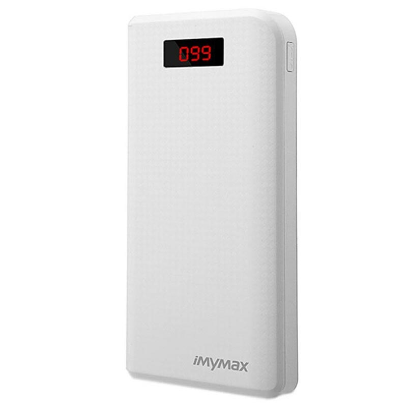 iMyMax Carbon MM-PB/006 2xUSB Powerbank - 30000mAh - Wit