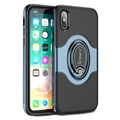 iPhone X iPaky Hybrid Magnetisch Ring Cover - Blauw / Zwart