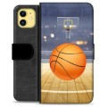 iPhone 11 Premium Portemonnee Hoesje - Basketbal