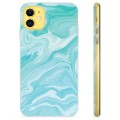 iPhone 11 TPU Case - Blauw Marmer