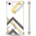 iPhone 7/8/SE (2020) Hybride Case - Abstract Marmer