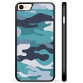 iPhone 7/8/SE (2020) Beschermende Cover - Blauwe Camouflage