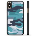 iPhone XS Max Beschermende Cover - Blauwe Camouflage