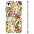 iPhone XR Hybride Case - Roze Bloemen