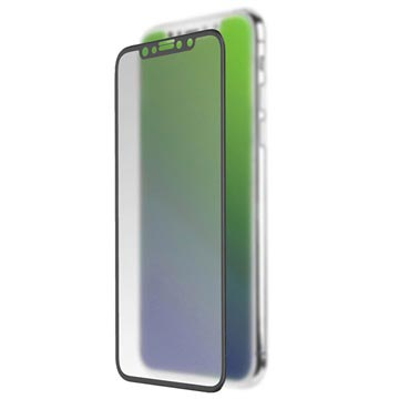 iPhone X/XS/11 Pro 4smarts Curved Glass Screenprotector - Zwart