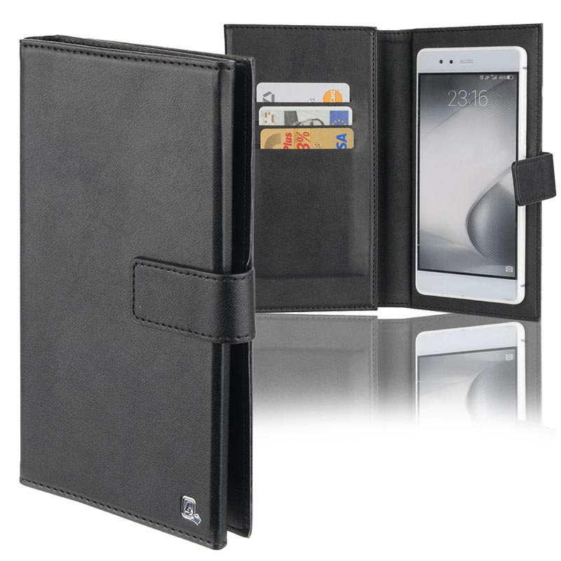 "4smarts UltiMAG Wallstreet Universele Wallet Case - 5.8"" - Zwart"