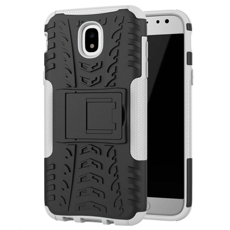 Samsung Galaxy J5 (2017) Anti-Slip Hybrid Case - Wit / Zwart