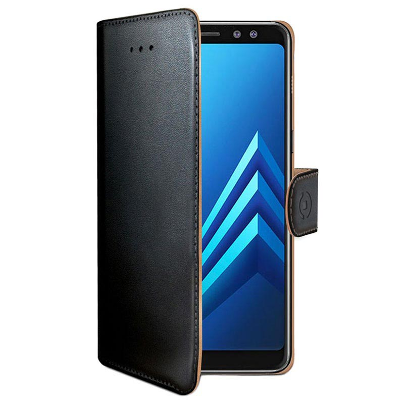 Samsung Galaxy A8 (2018) Celly Wally Wallet Case - Zwart