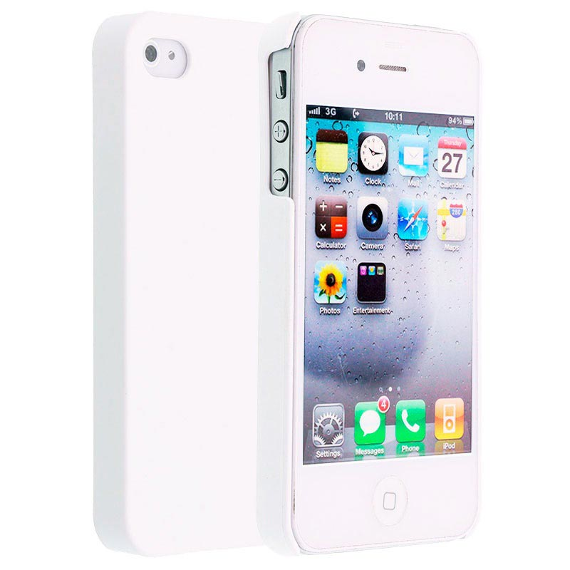 iPhone 4 / 4S Code Bekleed Hard Cover - Wit