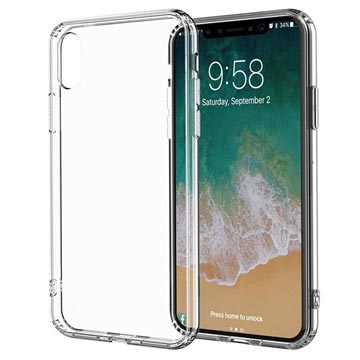 iPhone X / iPhone XS Drop Resistant Crystal TPU Case - Doorzichtig