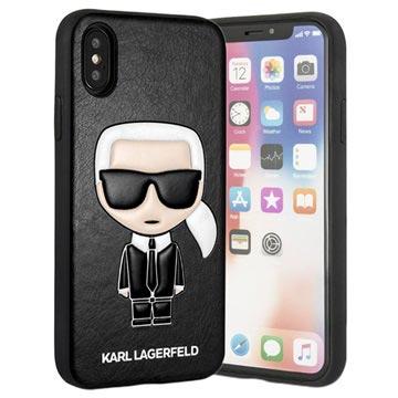 X Ikonik Karl Cover Iphone Zwart Lagerfeld Xs nCqaat86xw