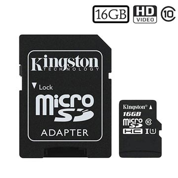 Kingston Canvas Select MicroSDHC Geheugenkaart SDCS/16GB