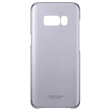 Samsung Galaxy S8+ Clear cover in zwarte kleur - EF-QG955CB model, ontworpen om perfect te passen
