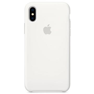 iPhone X Apple Siliconen Hoesje MQT22ZM/A - Wit