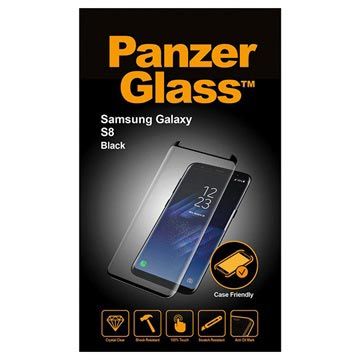 PanzerGlass Case Friendly Samsung Galaxy S8 Screenprotector - Zwart