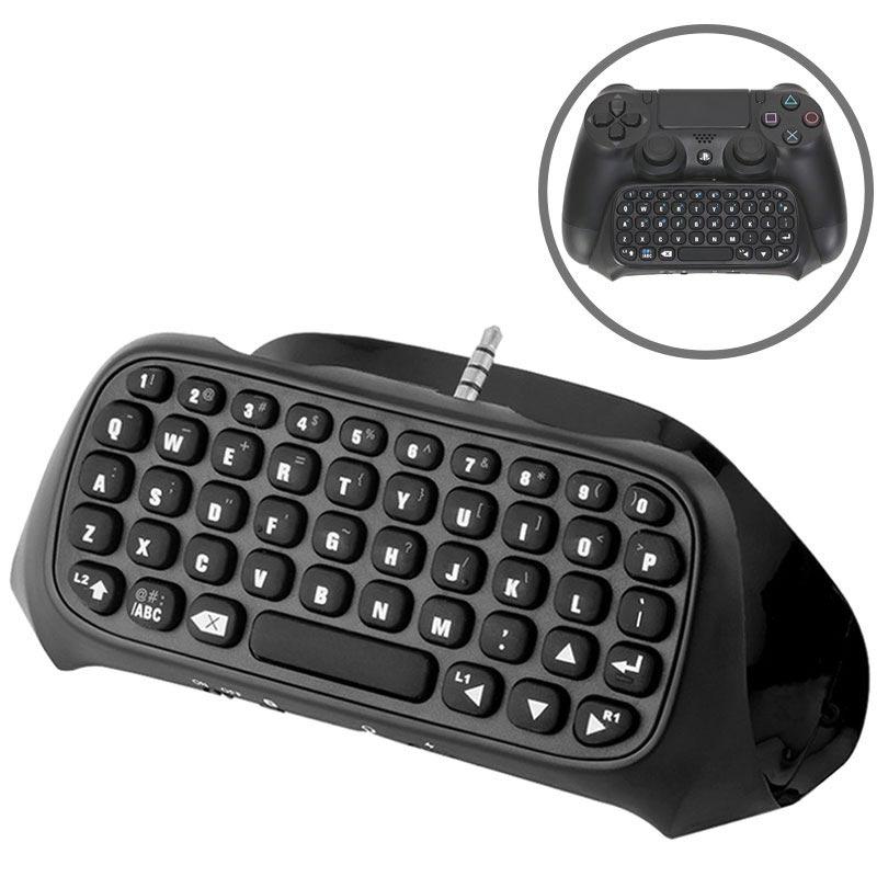 Draagbare Draadloze Toetsenbord Voor Ps4 Controller Zwart