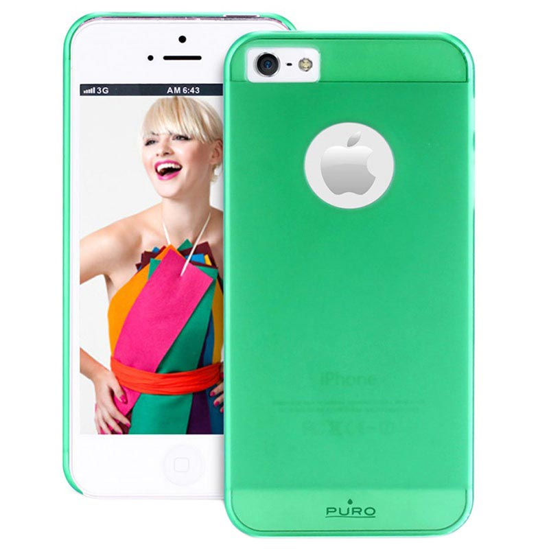 iPhone 5 / 5S / SE Puro Rainbow Hard Cover - Groen