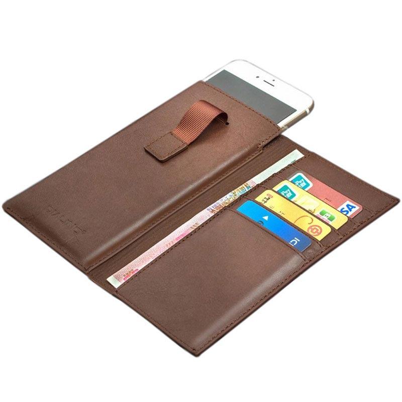 Leder Portemonnee.Iphone 6 Plus 6s Plus Qialino Multifunctioneel Leder Portemonnee