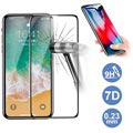 Rock 7D Cold Carving iPhone XS Max Glazen Screenprotector - Zwart