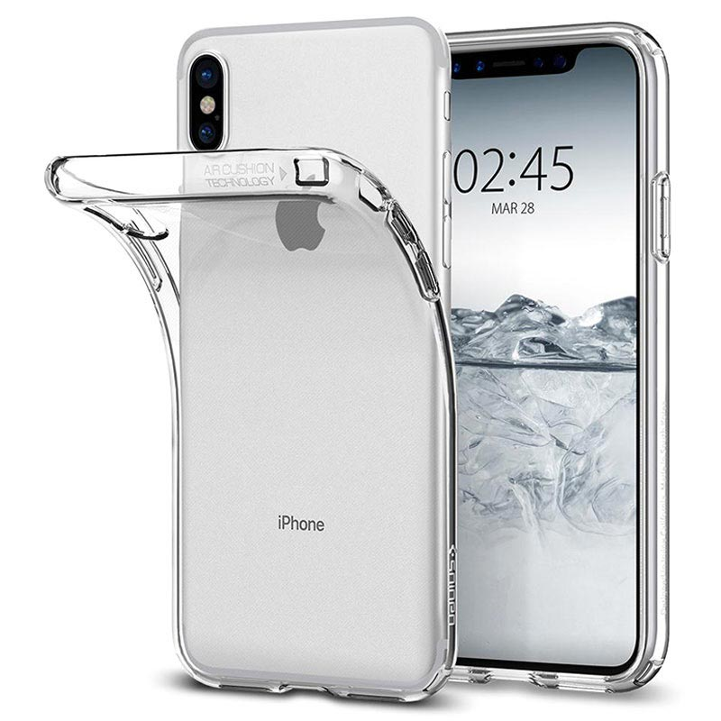 iPhone X / iPhone XS Spigen Liquid Crystal Cover - Doorzichtig
