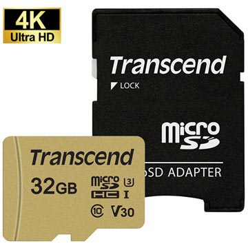 Transcend 500S MicroSDHC Geheugenkaart TS32GUSD500S - 32GB