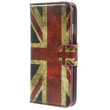 Iphone 6 Hoesje Cat Union Jack Wallet